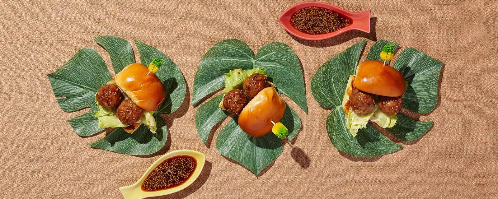 Teriyaki Turkey Meatball Sliders