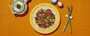 Garlic Beef & Asparagus Stir-Fry