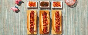 Teriyaki Hot Dogs with Relish