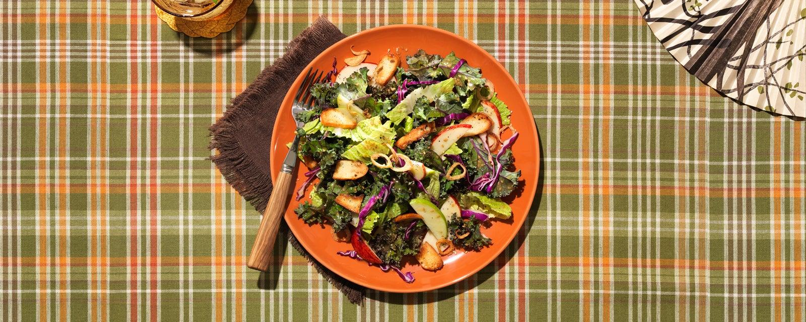 Toasted Sesame Kale & Cabbage Salad
