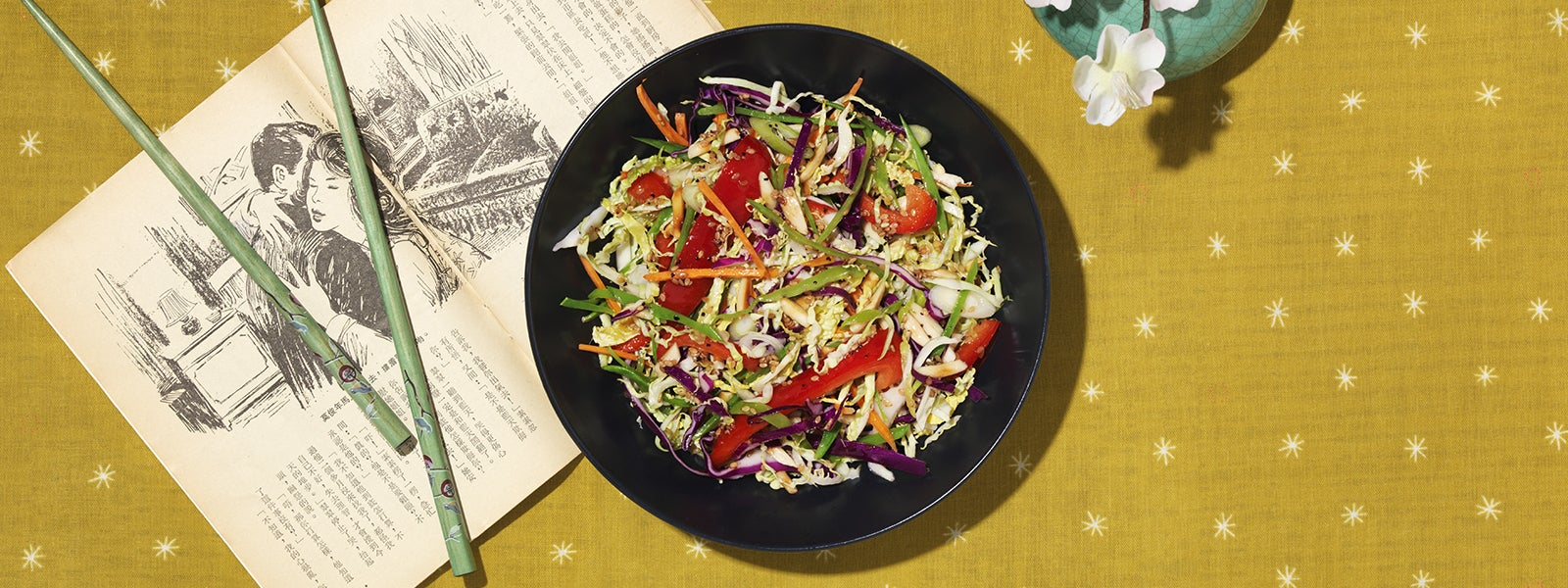 Colorful Asian Cabbage Salad
