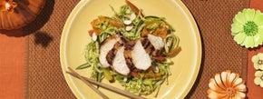 Udon Noodle Salad with Garlic Chicken Teriyaki