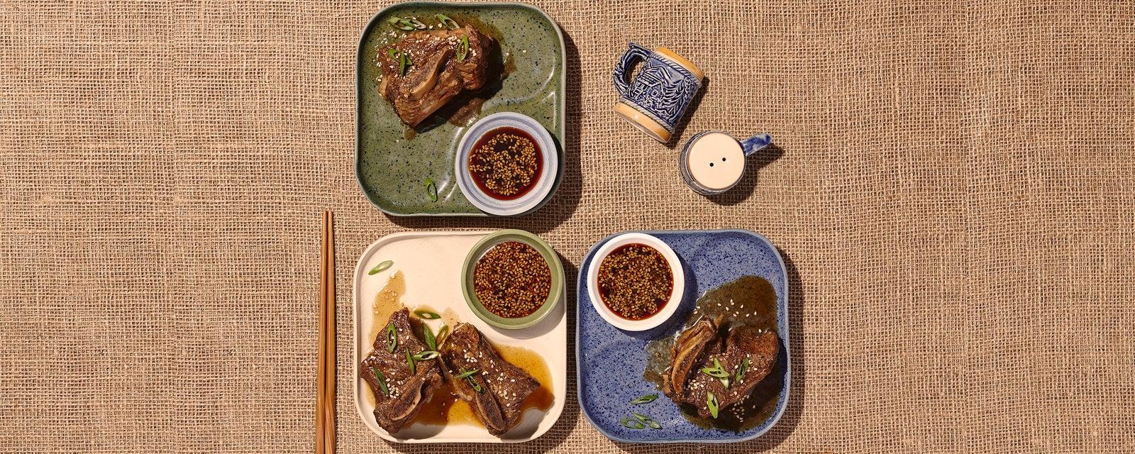 Slow Cooker Korean Braised Short Ribs