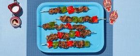 Teriyaki Flank Steak & Green Pepper Yakitori
