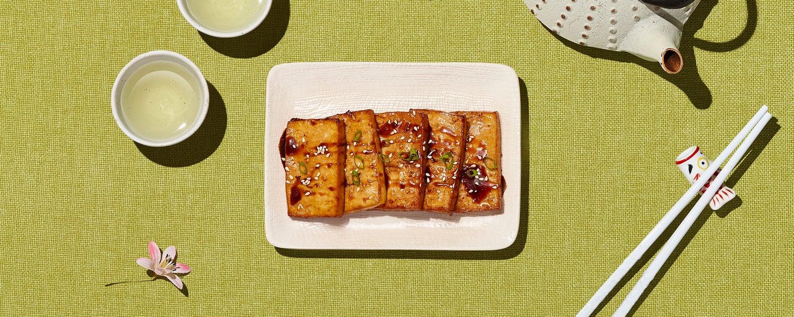 Baked Sesame Garlic Tofu