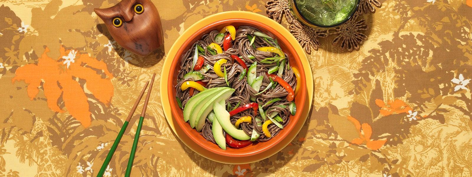 Buckwheat Soba Sesame Noodle Salad
