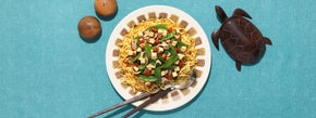 Long Life Tofu and Veggie Noodle Stir Fry