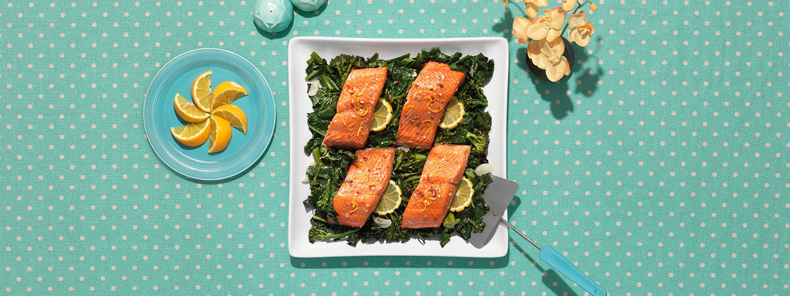 Teriyaki Salmon with Broccolini & Kale
