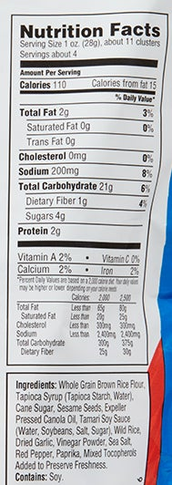 Spicy 'N Sweet Snack nutritional information