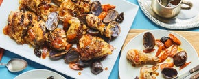 Apricot Chicken with Teriyaki Tzimmes